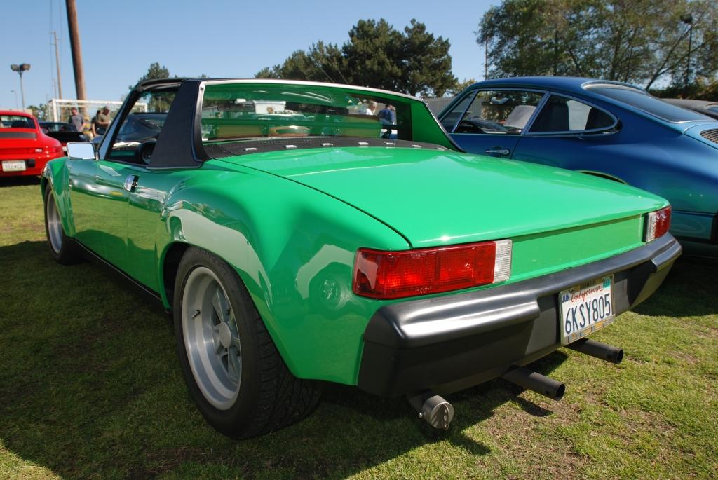 Green Porsche 914-6 GT_3/4 rear view_all Porsche swap & car display_3/4/12