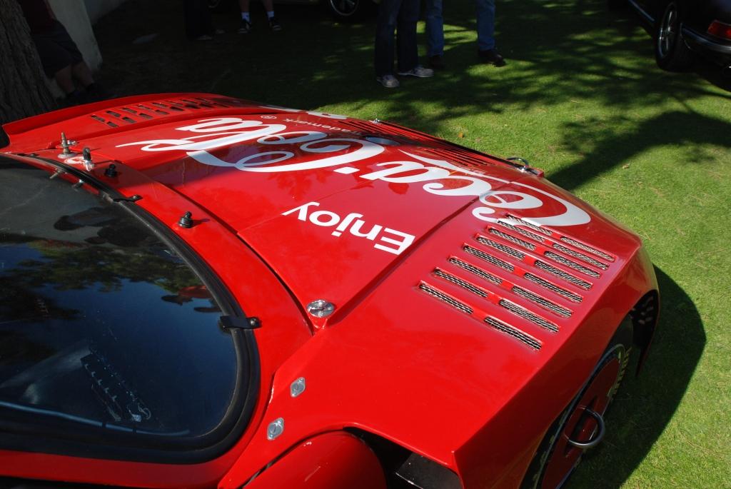 Red Coca-Cola Porsche 935_logo and vent details _all Porsche swap & car display_3/4/12