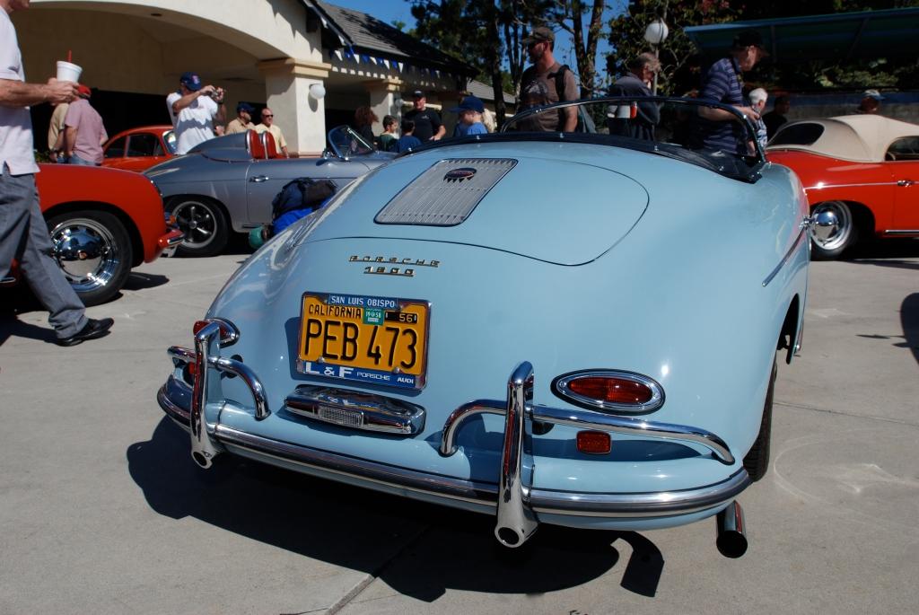 Speedster blue Porsche 356 1600 speedster_all Porsche swap & car display_3/4/12