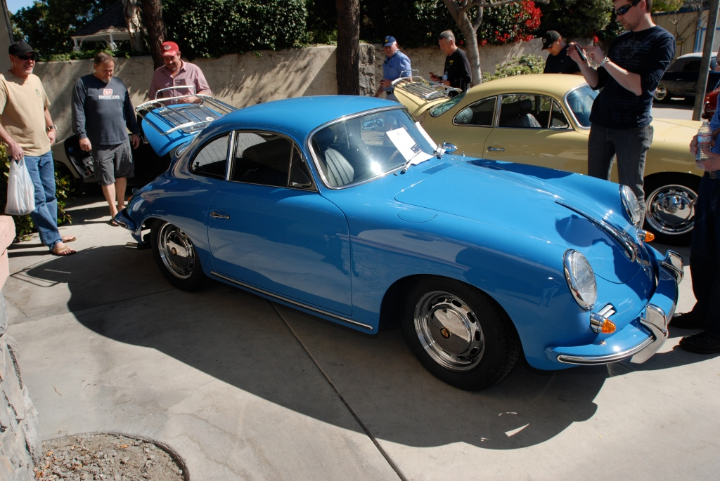 Blue Porsche 356 coupe_all Porsche swap & car display_3/4/12