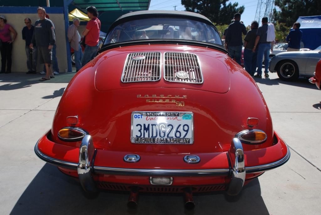 Red Porsche 356 super 90 cabriolet_all Porsche swap & car display_3/4/12