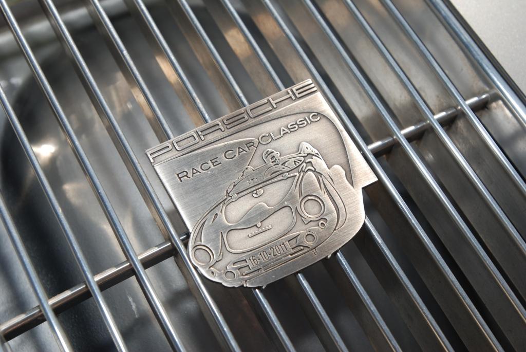 Silver Porsche 356 1600 roadster grill & badge_all Porsche swap & car display_3/4/12