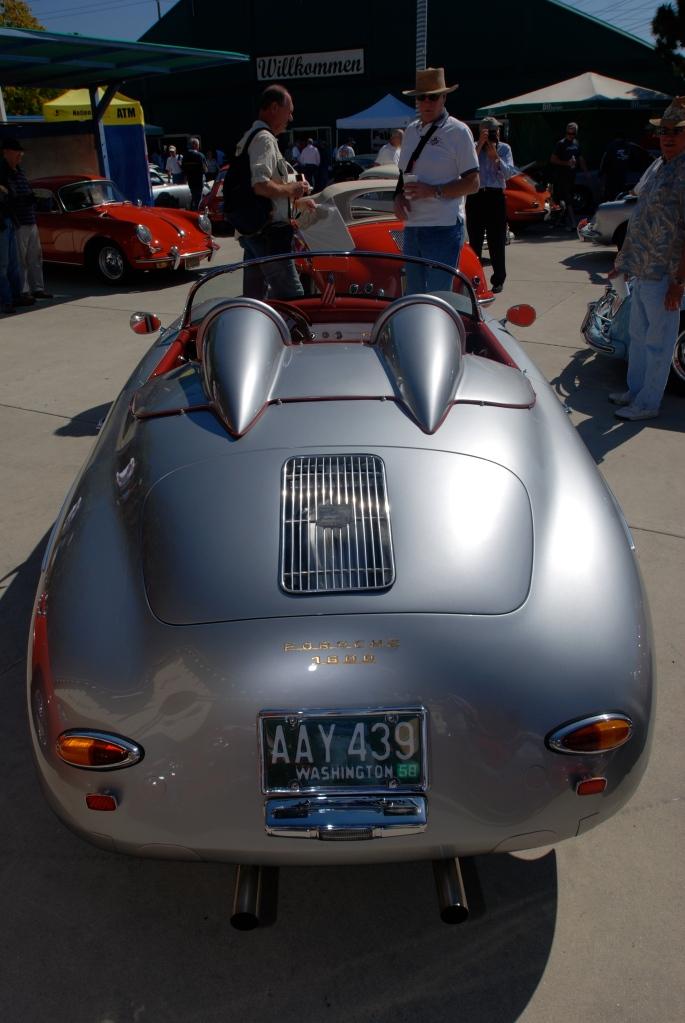 Silver Porsche 356 1600 roadster_all Porsche swap & car display_3/4/12