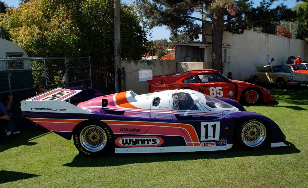 Wynn's Porsche 962 and red Coca- Cola Porsche 935_ side view_all Porsche swap & car display_3/4/12