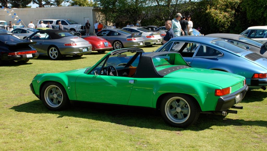 Green Porsche 914-6 GT_all Porsche swap & car display_3/4/12