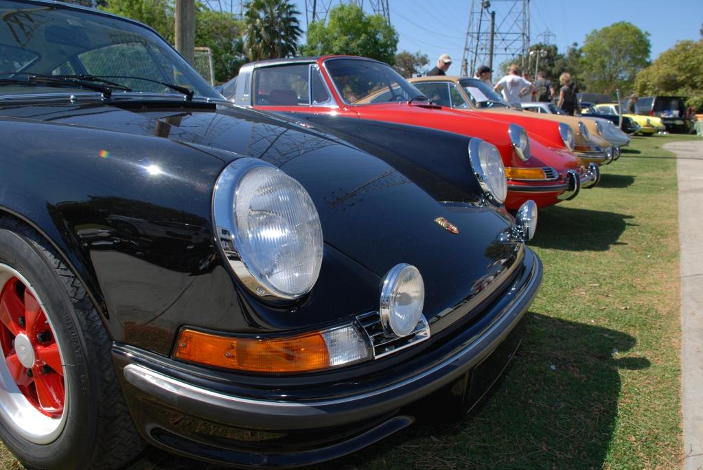 Black 1973 Porsche 911 Carrera RS_right hand drive_3/4 front view_all Porsche swap & car display_3/4/12