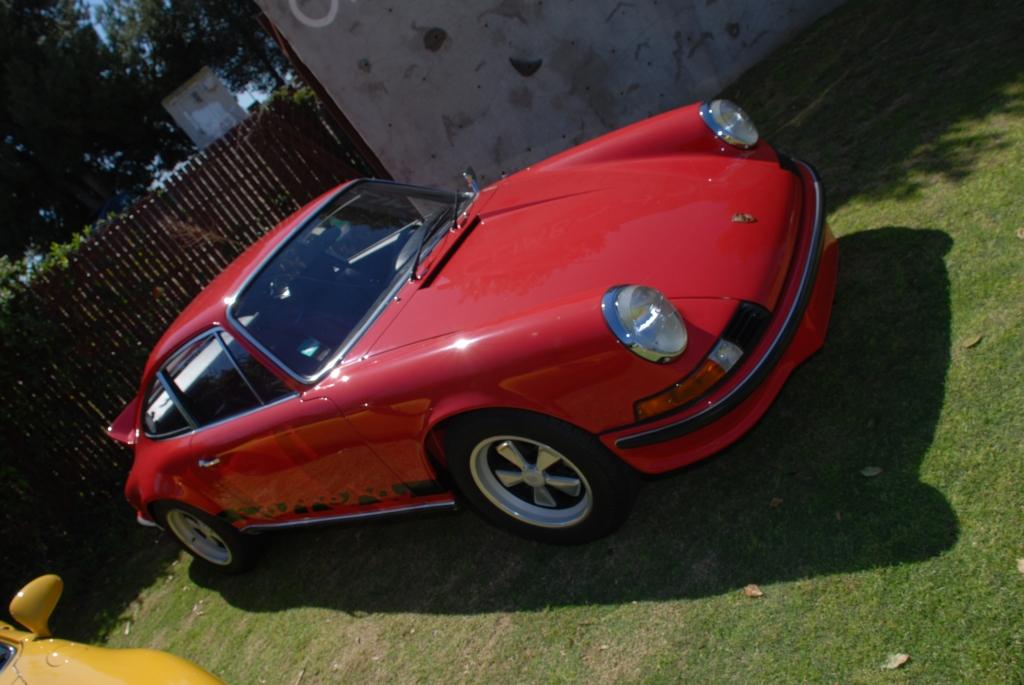Rasberry colored 1973 Porsche 911 Carrera RS_all Porsche swap & car display_3/4/12