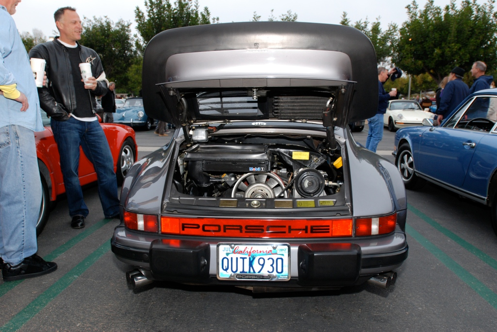 Slate Gray Porsche 930 turbo_Porsche Row_Cars&Coffee_3/31/12