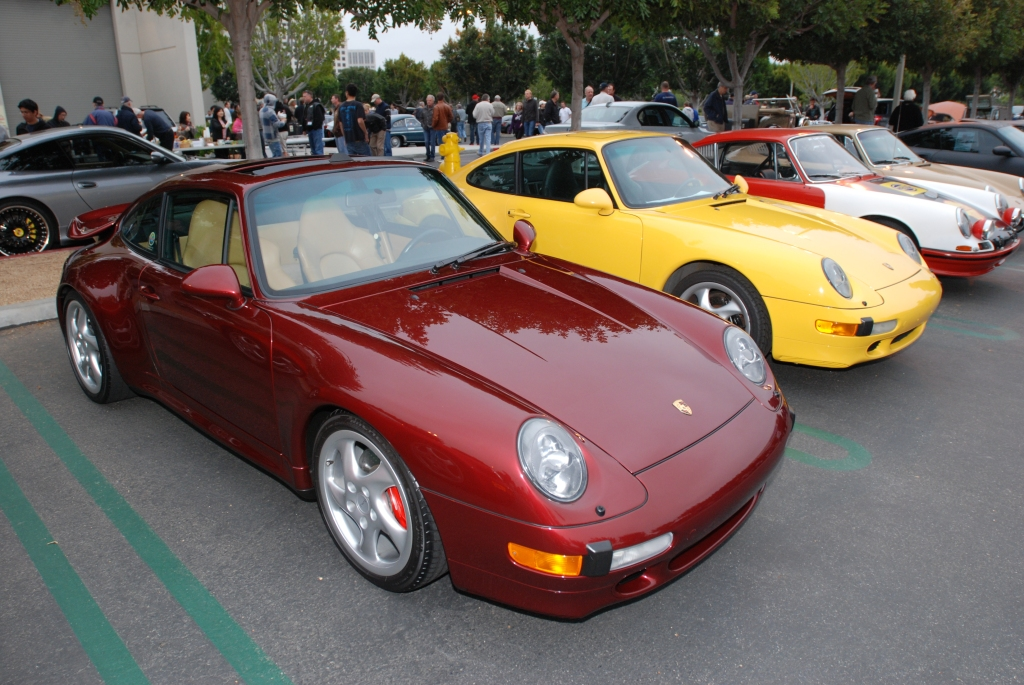 Porsches along Porsche Row_Cars&Coffee_3/31/12