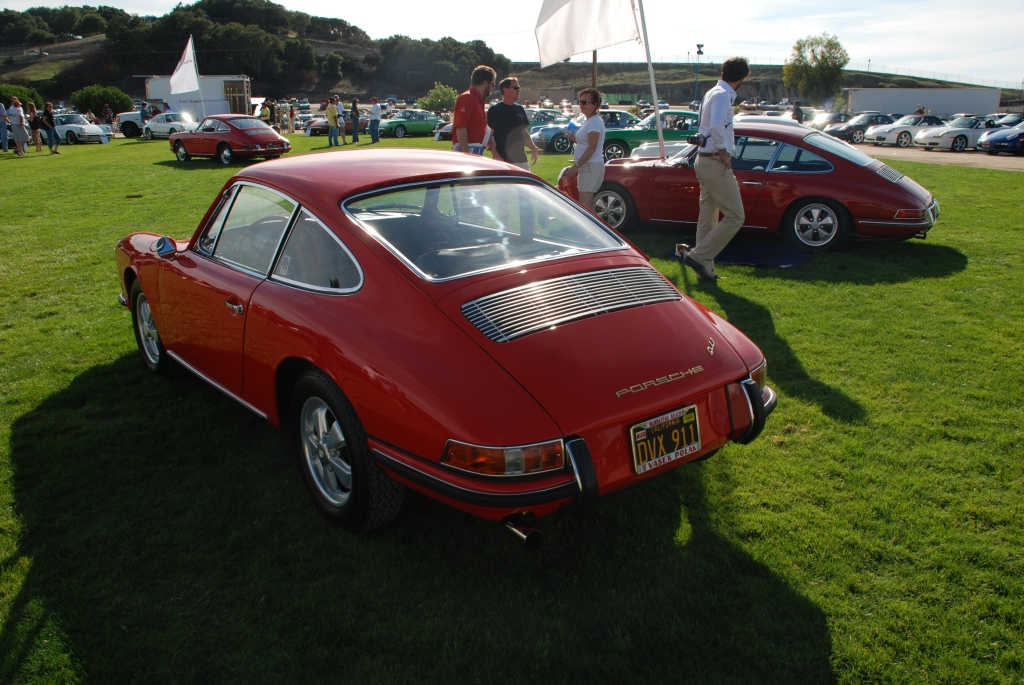 Red 1966 Porsche 911_3/4 rear view_Porsche Rennsport Reunion IV_ October 2011