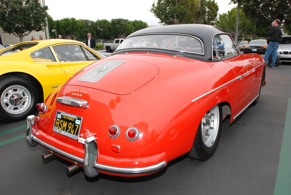 356 speedster w/ black hard top option_3/4 rear view_Cars&Coffee/Irvine_3/31/12