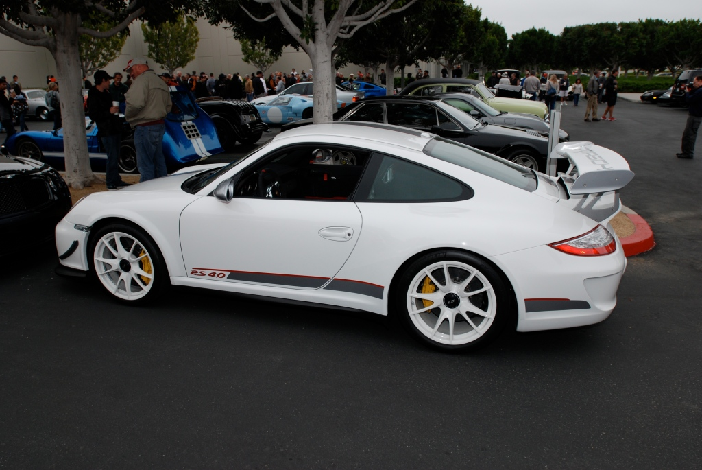 2011 white Porsche GT3 RS4.0_series # 222_side view_Cars&Coffee/Irvine_3/31/12