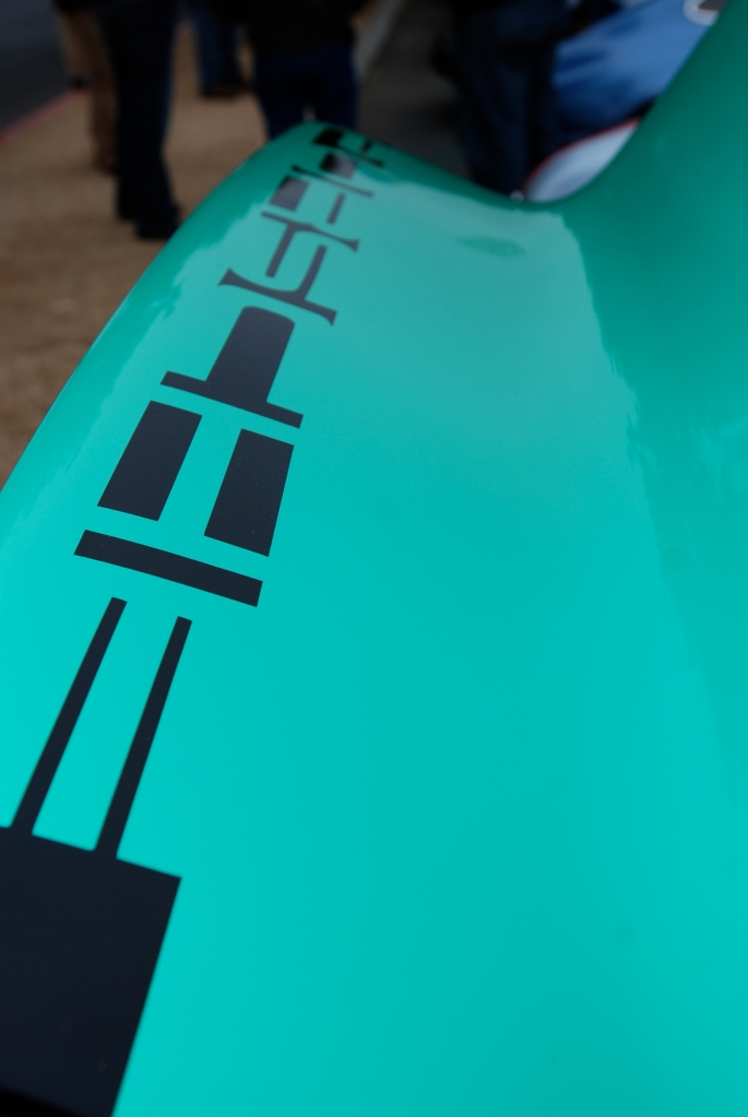 1973 green Porsche 911 Carrera RS #280_ducktail graphic detail_Cars&Coffee/Irvine_3/31/12
