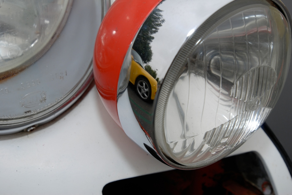 1966 Porsche 911 driving light reflections_Cars&Coffee/Irvine_3/31/12