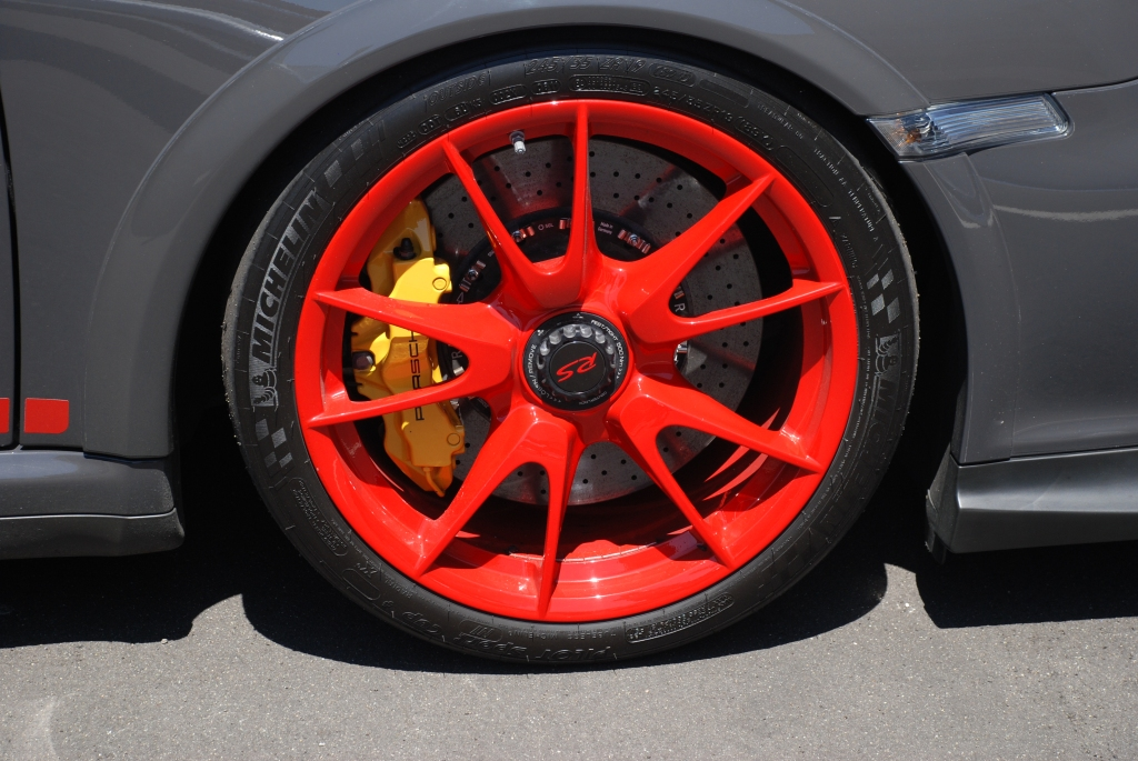 Porsche GT3RS red wheel_Festival of Speed_Auto Club Speedway_April 21, 2012