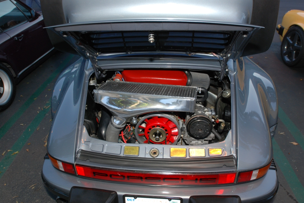 Slate Gray 1984 Porsche 930 turbo_motor detail_F.A. Porsche Tribute_Cars&Coffee/Irvine_4/7/12