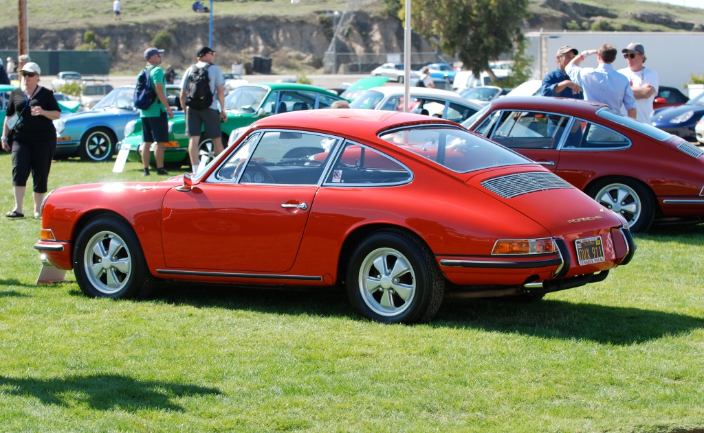 Red 1966 Porsche 911_side view_Porsche Rennsport Reunion IV_ October 2011