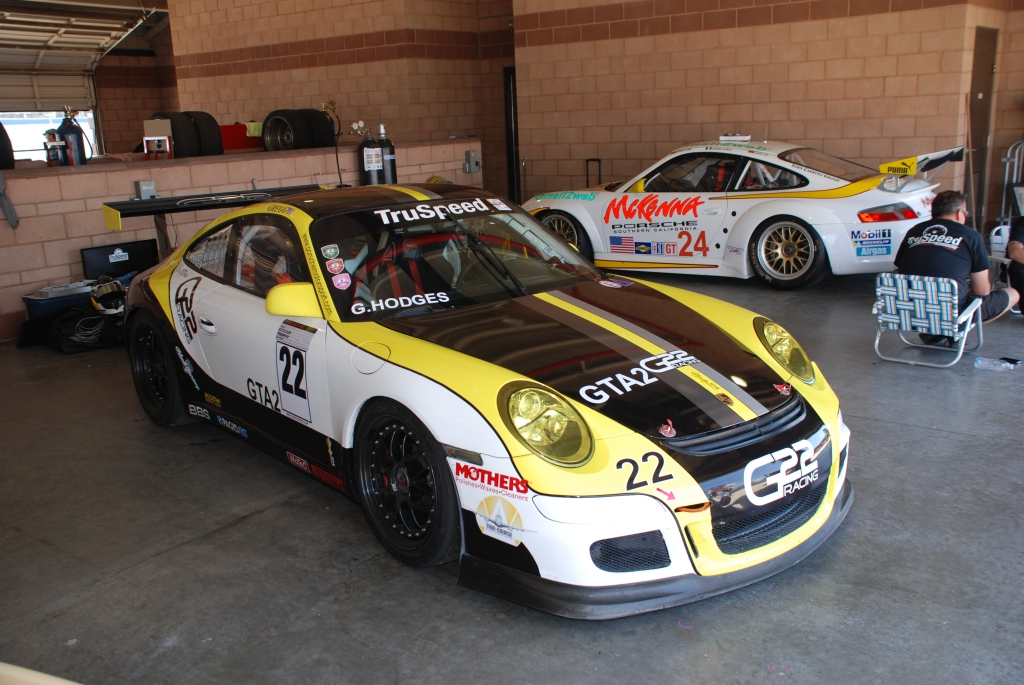 Porsche GT3 Cup car_Truspeed_Festival of Speed_Auto Club Speedway_April 21, 2012