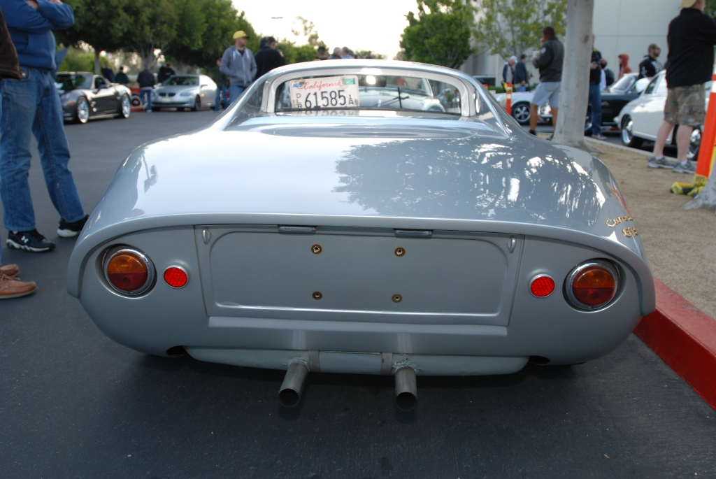 Silver Porsche 904 GTS_rear view_F.A. Porsche Tribute_Cars&Coffee/Irvine_4/7/12