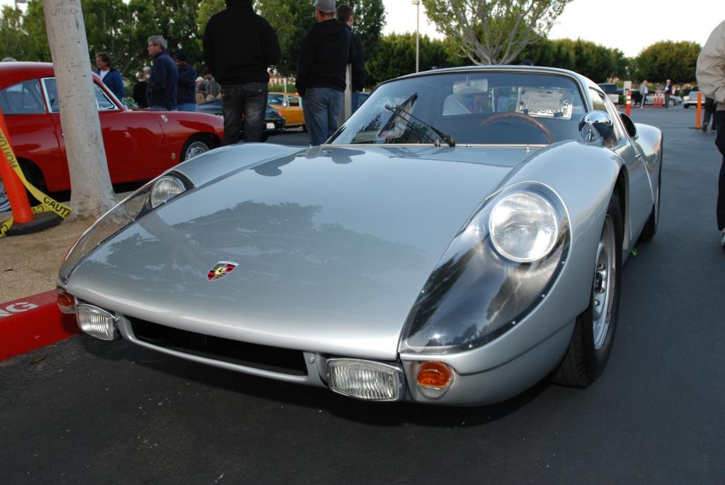 Silver Porsche 904 GTS_ front view_F.A. Porsche Tribute_Cars&Coffee/Irvine_4/7/12