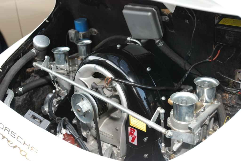 White 1962 Porsche 356 Carrera 2_4 cam motor_F.A. Porsche Tribute_Cars&Coffee/Irvine_4/7/12