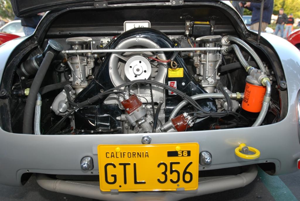 Silver 1961 Porsche Carrera Abarth GTL_rear view_4 cam motor_F.A. Porsche Tribute_Cars&Coffee/Irvine_4/7/12