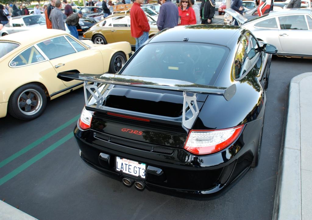 Black on black Porsche 997 GT3RS _F.A. Porsche Tribute_Cars&Coffee/Irvine_4/7/12