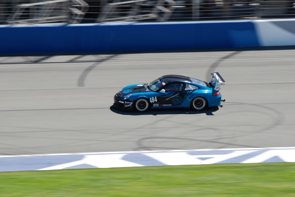 2012 Porsche GT3 Cup_blue&black Discountechnology GTR3_Festival of Speed_Auto Club Speedway_April 21, 2012
