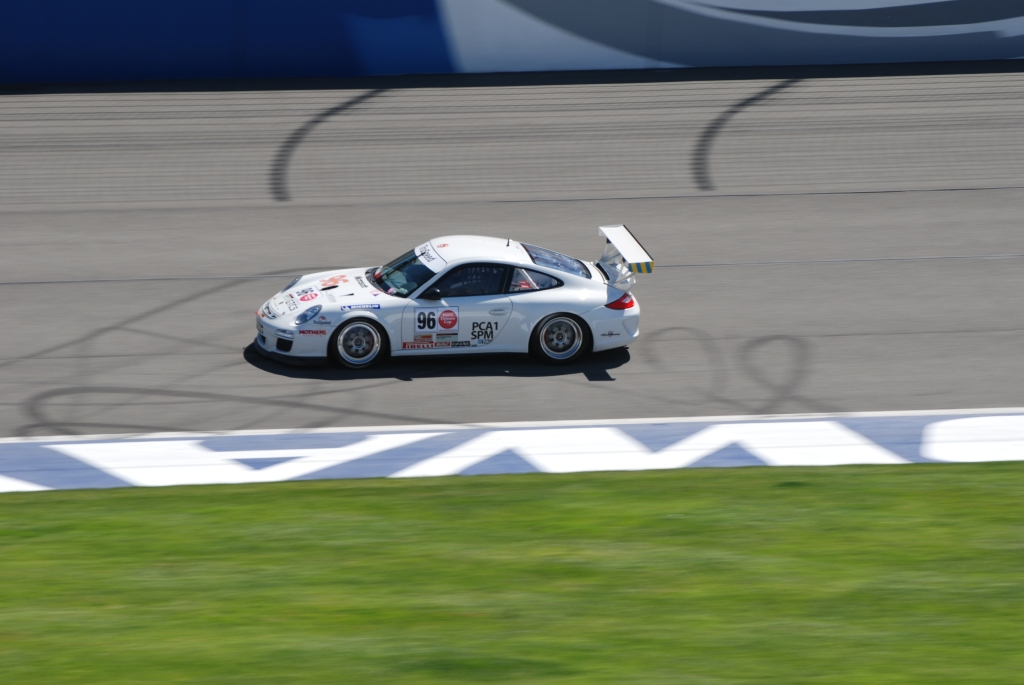 White 2012 Porsche GT3 Cup car_#96_Festival of Speed_Auto Club Speedway_April 21, 2012