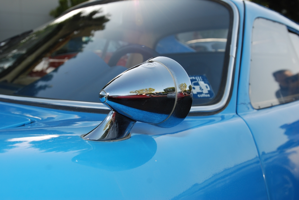 Blue 1964 Porsche 904-002_Butzi's car_mirror reflection_F.A. Porsche Tribute_Cars&Coffee/Irvine_4/7/12