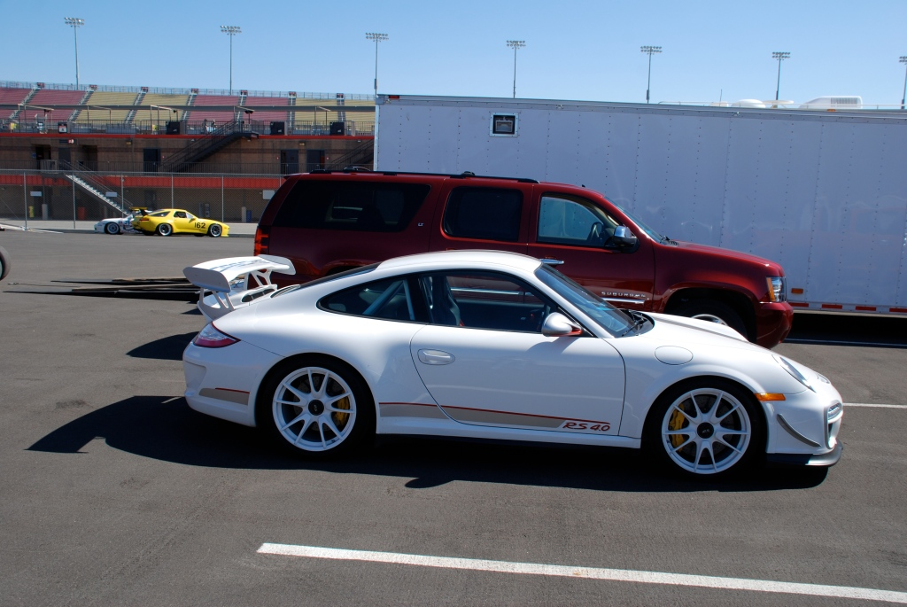 White 2012 Porsche GT3 RS4.0_side view_Festival of Speed_Auto Club Raceway_April 21, 2012