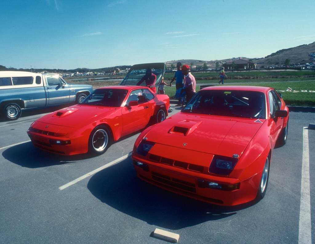 Red Porsche 924 Carrera GT & GTS Club Sport_Monterey Historics _Laguna Seca_Aug 82