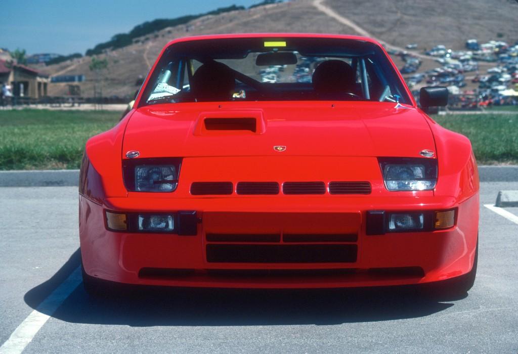 Red Porsche 924 Carrera GTS Club Sport_front view_Monterey Historics _Laguna Seca_Aug 82