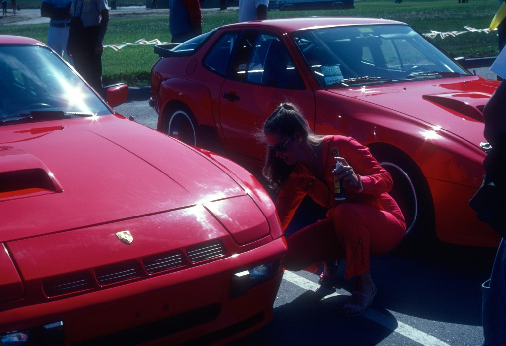 Red Porsche 924 Carrera GT_Margie Smith Haas detailing_Monterey Historics _Laguna Seca_Aug 82