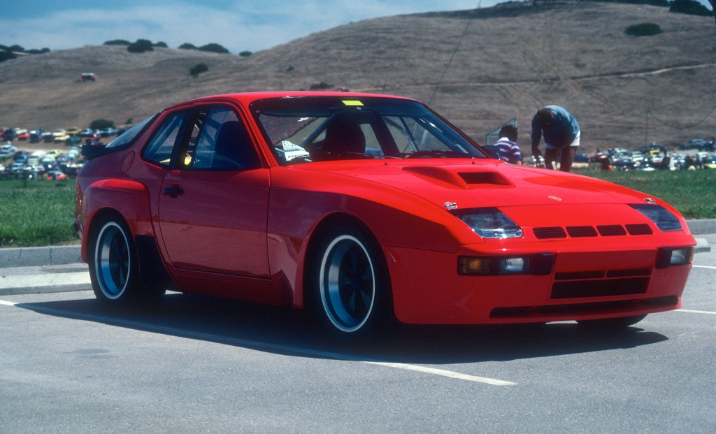 Red Porsche 924 Carrera GTS Club Sport_3/4 front view_Monterey Historics _Laguna Seca_Aug 82