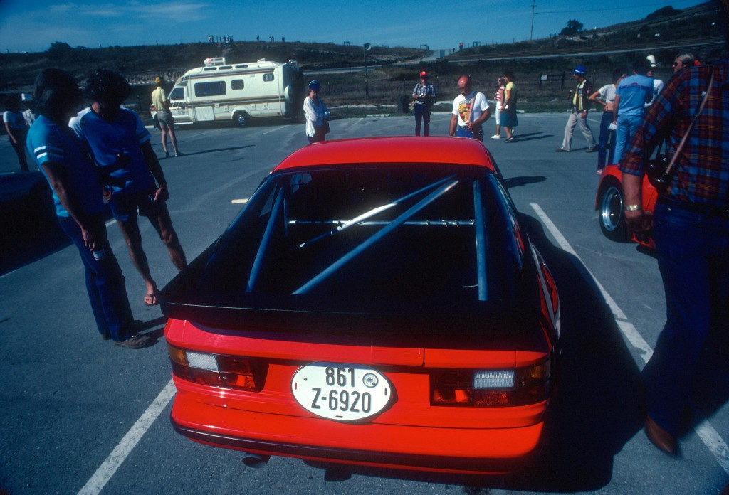 Red Porsche 924 Carrera GTS Club Sport_rear view_Monterey Historics _Laguna Seca_Aug 82