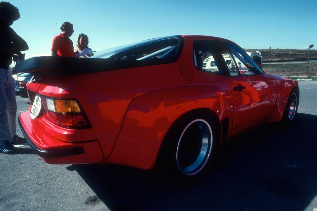Red Porsche 924 Carrera GTS Club Sport_3/4 rear view2_Monterey Historics _Laguna Seca_Aug 82