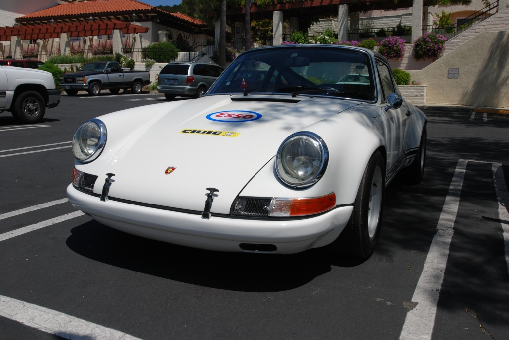 White 1970's Porsche 911ST clone_ front view_RGruppe Solvang Treffen _May 5, 2012