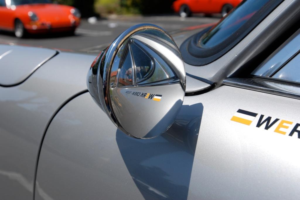 Silver 1968 Porsche 911L _side mirror detail_RGruppe Solvang Treffen _May 5, 2012