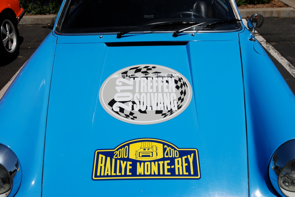 Blue 1970 Porsche 911T_hood graphics_RGruppe Solvang Treffen _May 5, 2012