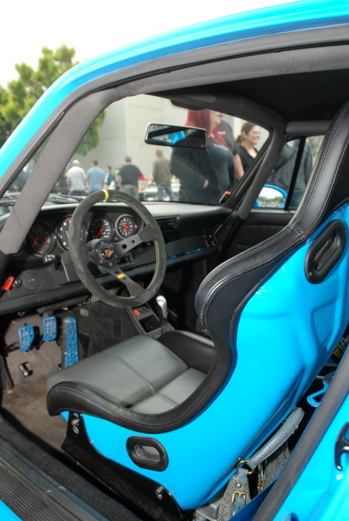 Mexico blue 1996 Porsche 993 Carrera RS Club Sport_interior/sport seat _Cars&Coffee_May 12, 2012