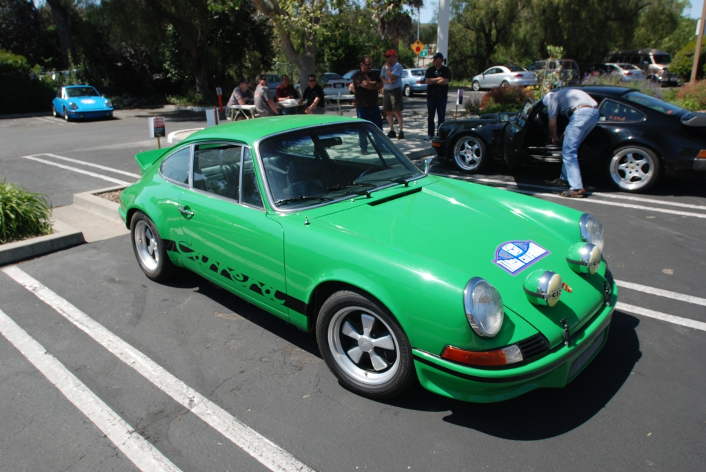 Green Porsche 911 Carrera RS clone_3/4 front view_RGruppe Solvang Treffen _May 5, 2012