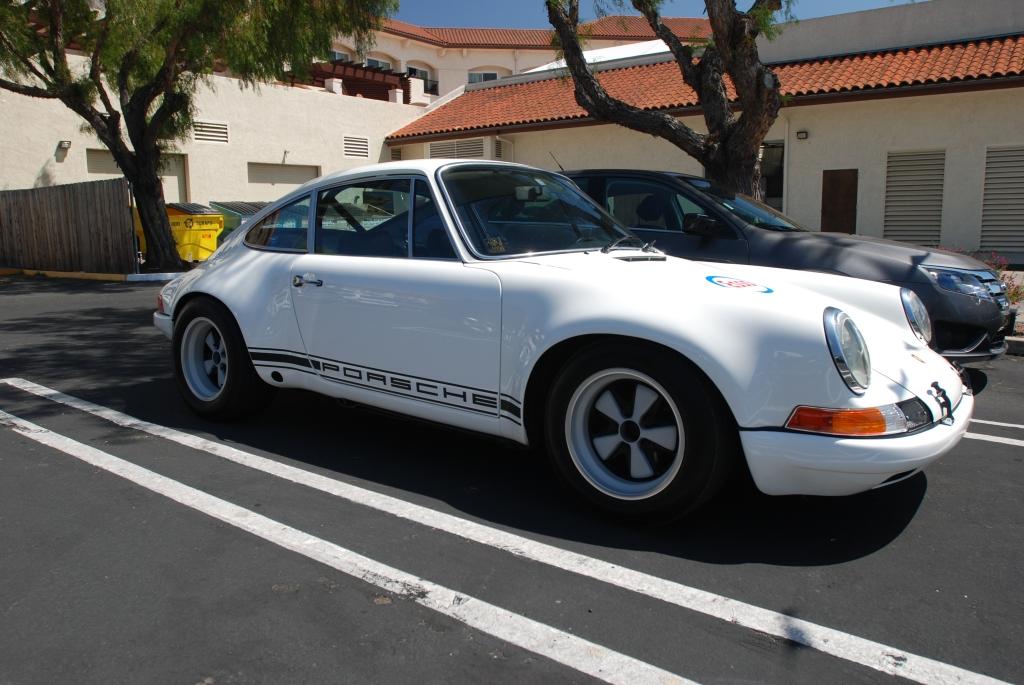 White 1970's Porsche 911ST clone_3/4 side view_RGruppe Solvang Treffen _May 5, 2012