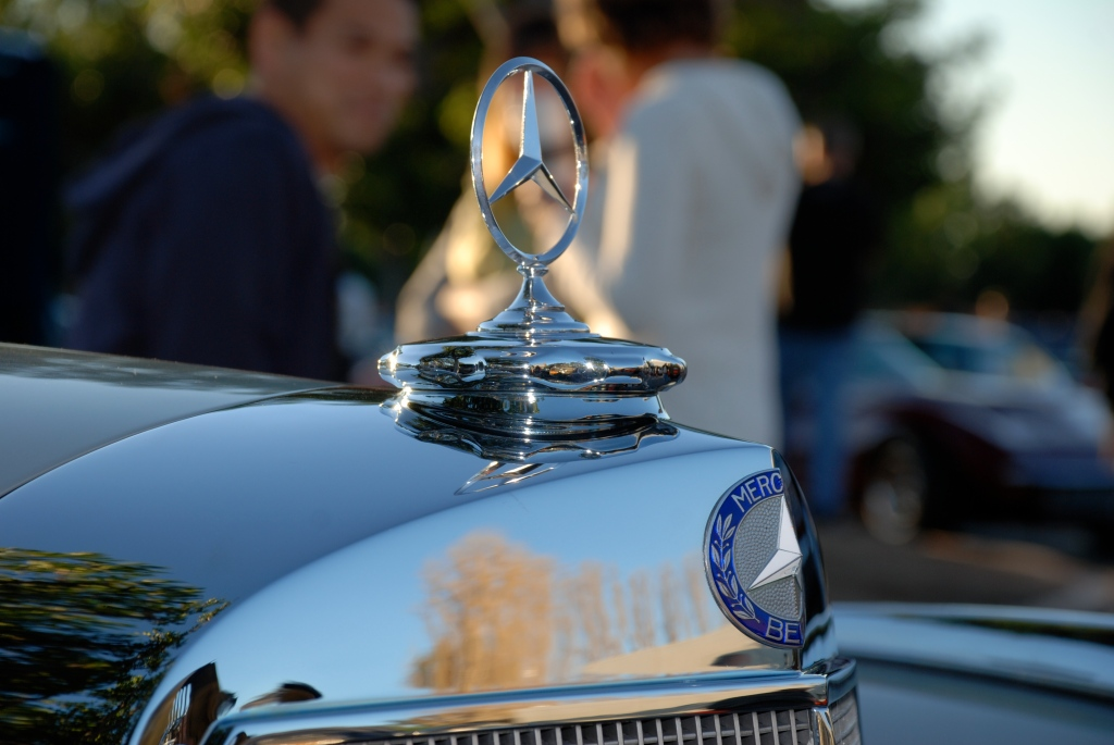 Mercedes Benz_ grill and hood emblem_Cars&Coffee_5/28/12