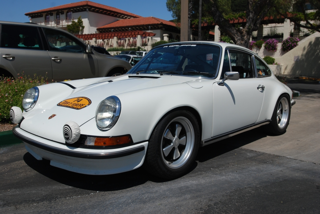 White 1972 911GT_3/4 front view_RGruppe Solvang Treffen _May 5, 2012