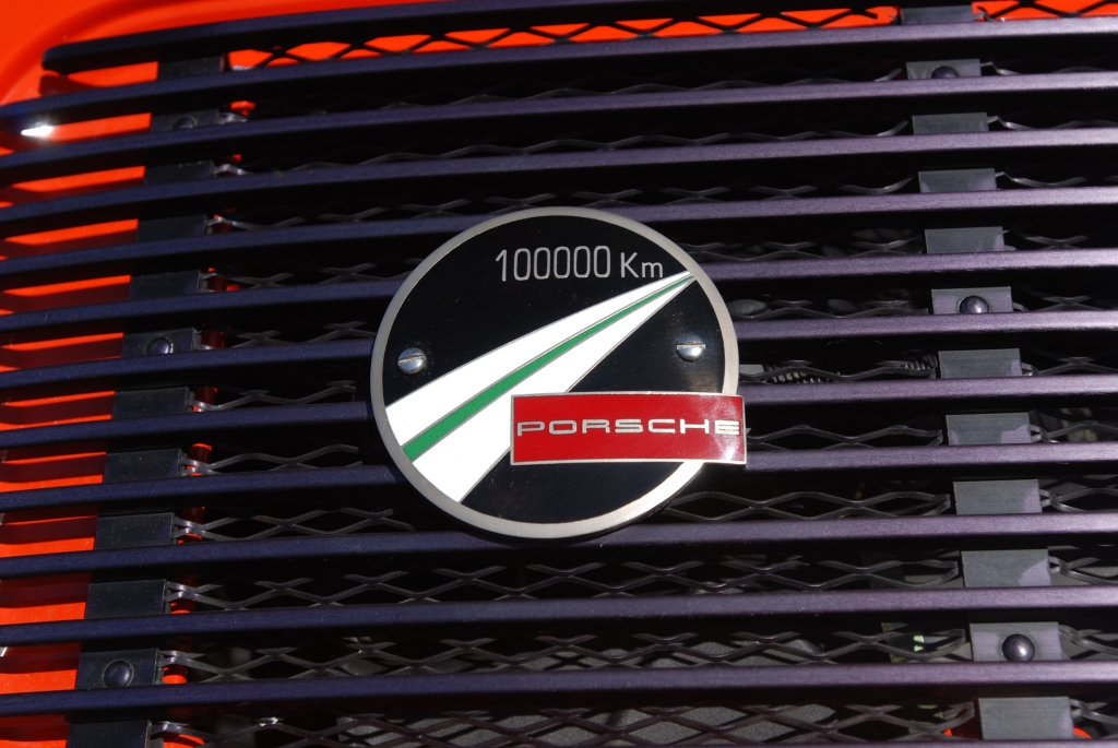 Orange 1972 Porsche 911T_rear grill detail_RGruppe Solvang Treffen _May 5, 2012