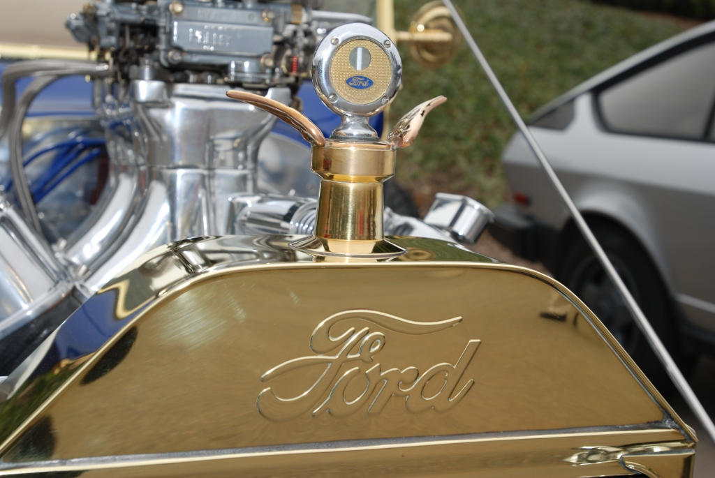 1923 Ford model T  hot rod_brass grill & radiator cap_Cars&Coffee_5/28/12