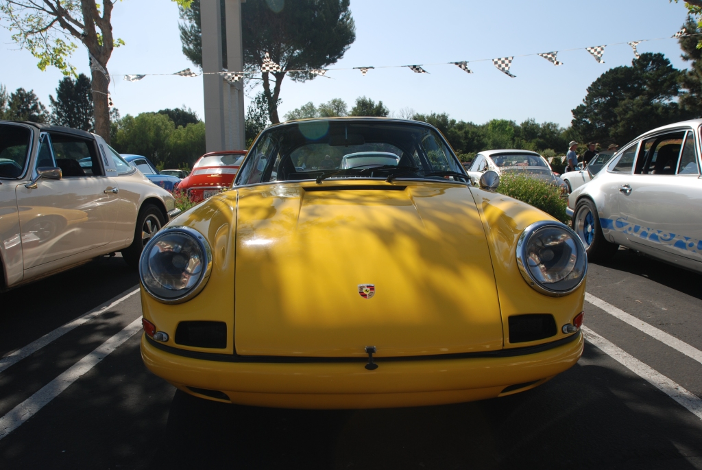 Yellow 1967 911R clone_front view_RGruppe Solvang Treffen _May 5, 2012