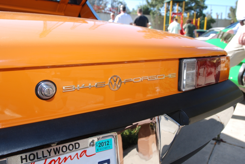 Orange Porsche 914-6_rear european badging_Cars&Coffee_5/28/12