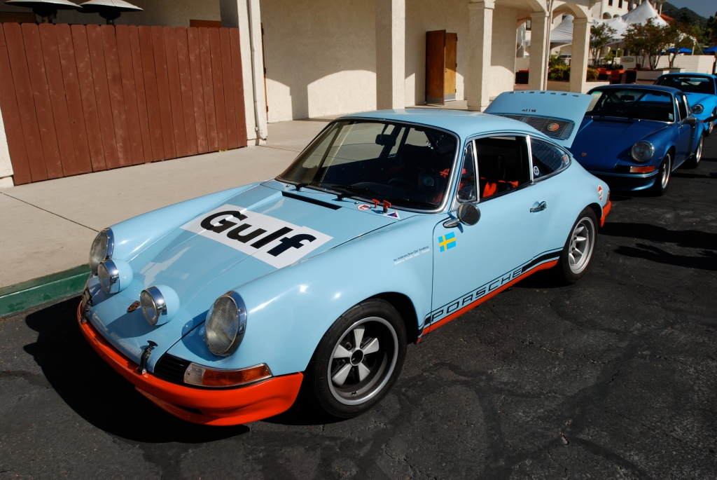 Gulf blue 1970's vintage Porsche factory built 911 Rally car_RGruppe Solvang Treffen _May 5, 2012